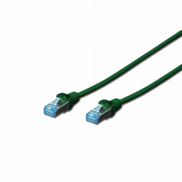 CAT 5e Patchk. grün 1,0m SF-UTP, PVC, AWG 26/7