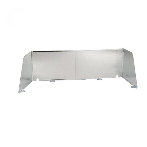 Windschutz bo-camp Paravent-Küche silber Verstellbar
