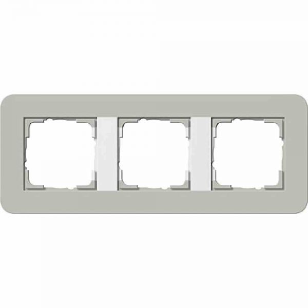 E3 Rahmen 3f grau/weiß Kunststoff