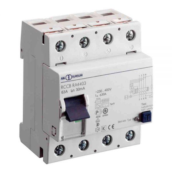 FI-Schutzschalter B 4p 400V 80A 0,03A 4TE REG