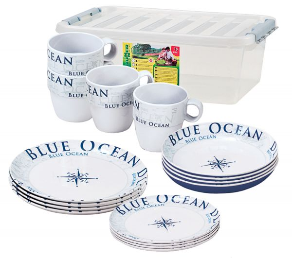 Geschirr Set Brunner Stack Box Blue Ocean Antislip